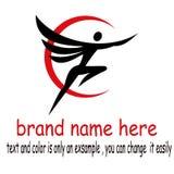 Logo d'aile de personnes illustration stock