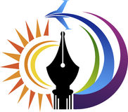 Logo d'air de stylo de puissance Images libres de droits