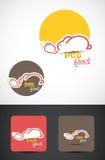 Logo d'aliment pour animaux familiers Photographie stock libre de droits