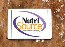 Logo d'aliment pour animaux familiers de Nutrisource Photos libres de droits