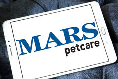 Logo d'aliment pour animaux familiers de petcare de Mars Photographie stock libre de droits