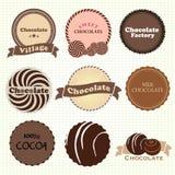 Logo d'amants de chocolat illustration de vecteur