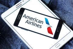 Logo d'American Airlines Photographie stock libre de droits
