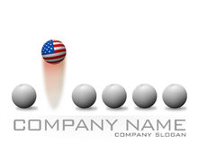Logo d'American Bouncing Ball Company Illustration de Vecteur