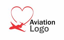 Logo d'amour d'aviation Photos libres de droits