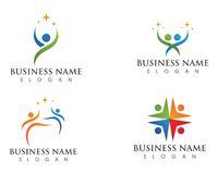 Logo d'amour de soin de famille et calibre de symboles Photographie stock libre de droits