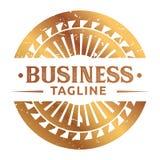 Logo d'annata della finestra del cerchio dell'oro Immagine Stock