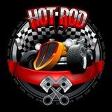 Logo d'annata di Rod caldo per la stampa sulle magliette o sui manifesti Illustrazione di vettore illustrazione di stock