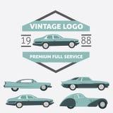Logo d'annata per il vostro logo - retro logo dell'automobile la cosa migliore per il vostro logo c illustrazione vettoriale