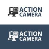 Logo d'appareil-photo d'action Appareil-photo pour des sports actifs Ultra HD 4K Photos libres de droits