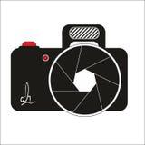 Logo d'appareil-photo Le graphique de vecteur d'aspiration de Corel a attaché illustration stock