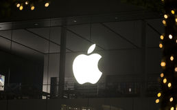 Logo d'Apple Store Photographie stock