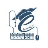 Logo d'apprentissage en ligne, vecteur Photographie stock libre de droits