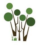 Logo d'arbre d'Abtract Images libres de droits