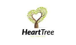 Logo d'arbre de coeur Image stock