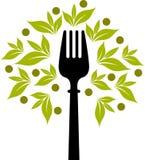 Logo d'arbre de fourchette illustration de vecteur