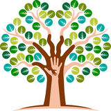 Logo d'arbre de main Image libre de droits