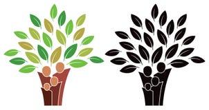 Logo d'arbre généalogique Photographie stock libre de droits
