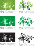 Logo d'arbres forestiers Photographie stock