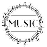 Logo d'art de musique Musique graphique de style de rue Copie élégante de mode Habillement de calibre, carte, label, affiche embl Illustration de Vecteur