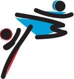 Logo d'arts martiaux Photographie stock