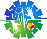 Logo d'Assurance-maladie Image stock