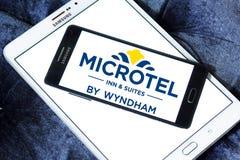 Logo d'auberge et de suites de Microtel images libres de droits
