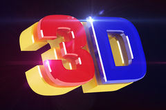 Logo 3D cinema Stock Images