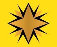 Logo d'or d'étoile Image libre de droits