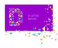Logo D de lettre de triangle illustration libre de droits