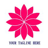 Logo 3d de Lotus Icon desing Photographie stock