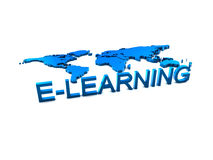 logo d'elearning d'éducation Images stock
