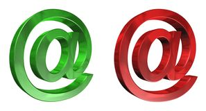 Logo d'email Images stock