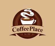 Logo d'endroit de café Photo stock