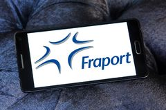 Logo d'entreprise de transport de Fraport Photo libre de droits