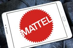Logo d'entreprise manufacturière de jouet de Mattel Images stock