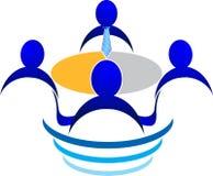 Logo d'entrevue Photo stock