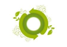 Logo d'environnement de renouvellement Photo stock