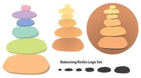 Logo d'equilibratura delle rocce Fotografie Stock