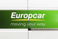 Logo d'Europcar sur une voiture Images stock