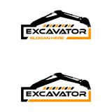 Logo d'excavatrice illustration de vecteur