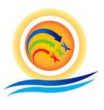 Logo d'exposition d'aéronefs Photographie stock