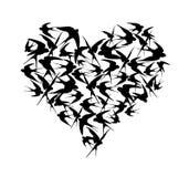 Logo d'hirondelle, copie noire de T-shirt d'hirondelle illustration de vecteur