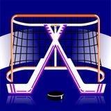 Logo d'hockey dans le vecteur Photos stock