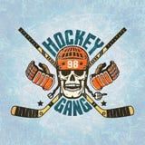 Logo d'hockey - un crâne dans un casque Photo libre de droits