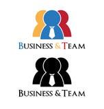 Logo d'homme d'affaires Photographie stock