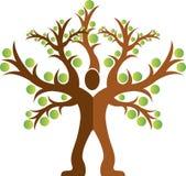 logo d'homme d'arbre illustration de vecteur