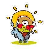 Logo d'homme de beignet Illustration Stock
