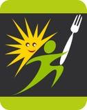 Logo d'homme de cuisinier de chef d'été Photographie stock libre de droits