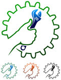 Logo d'homme de métiers illustration libre de droits